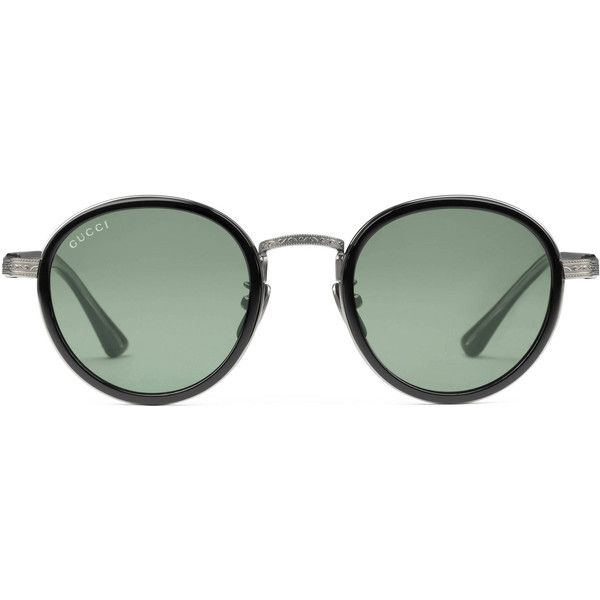 Gucci Round-Frame Titanium Sunglasses (1.890 BRL) ❤ liked on ...