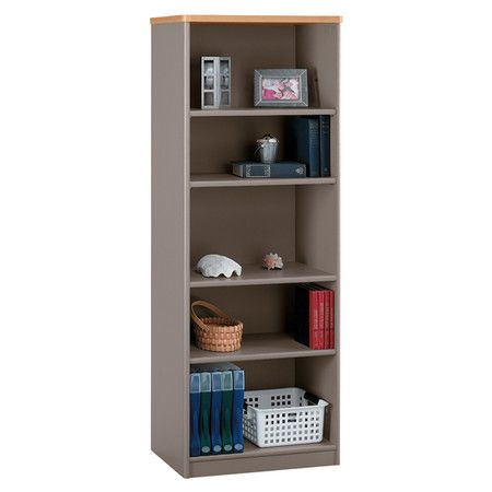 Found It At Wayfair Park Street Bookcase In Slate Light Oak Shelves Bookcase Home Office Furniture