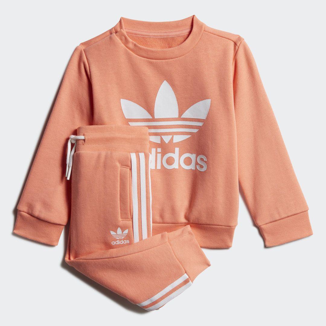 Adidas Crew Sweatshirt Set Orange Adidas Us Sweatshirts Crew Sweatshirts Adidas Outfit [ 1080 x 1080 Pixel ]