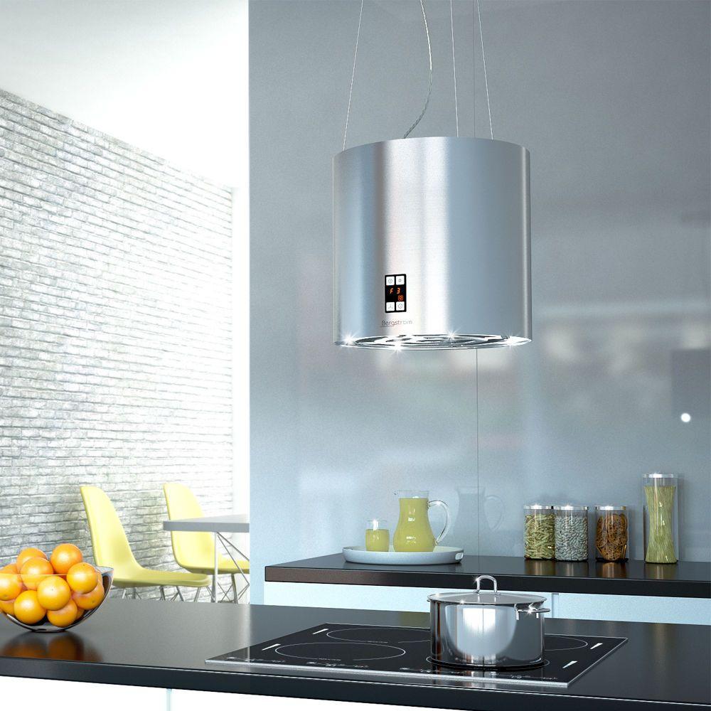 Bergstroem Design extractor cooker hood island hood stainless steel ...