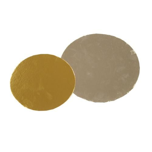 karton dia 16cm. goud/zilver (250)