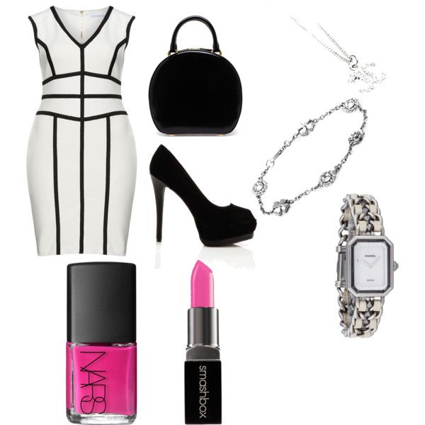 Office attire by ngallman on Polyvore featuring polyvore fashion style Gina Bacconi Qupid Simone Rocha Chanel Smashbox NARS Cosmetics