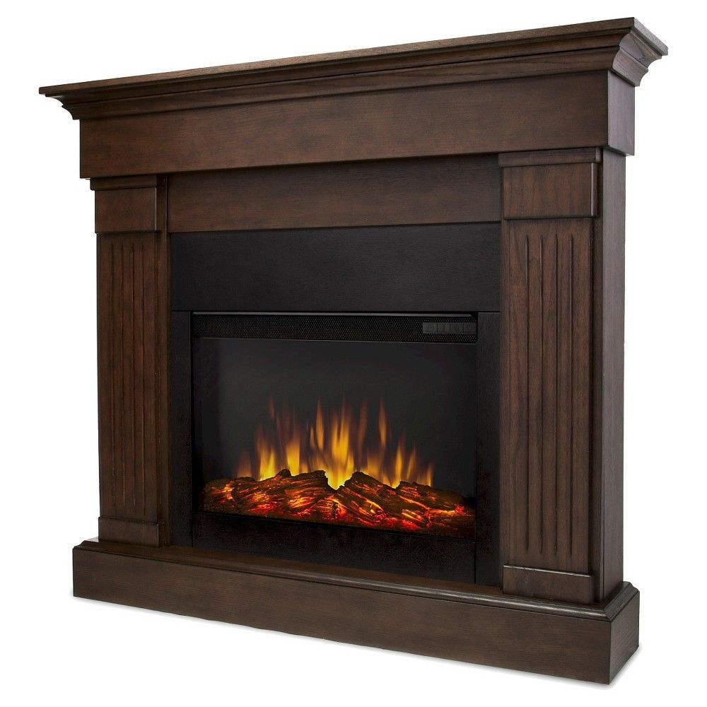 Real Flame Crawford Slim Electric Fireplace Chestnut Oak