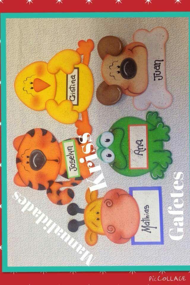 Gafetes foamy pinterest kids birthday cards for Escarapelas en foami