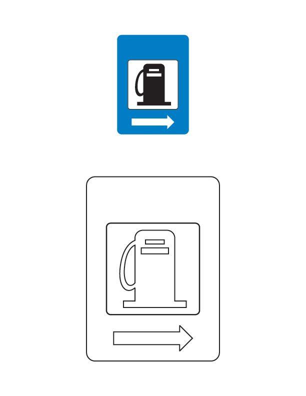 Petrol Pump Traffic Sign Coloring Page Skole Bornehave