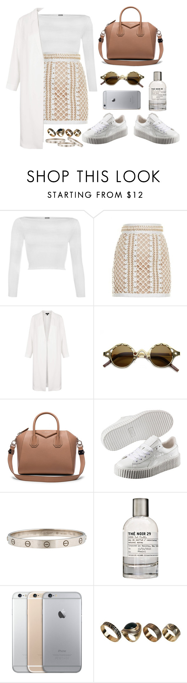 """complicated"" by millicent4 ❤ liked on Polyvore featuring WearAll, Balmain, Topshop, Givenchy, Puma, Le Labo and ALDO"