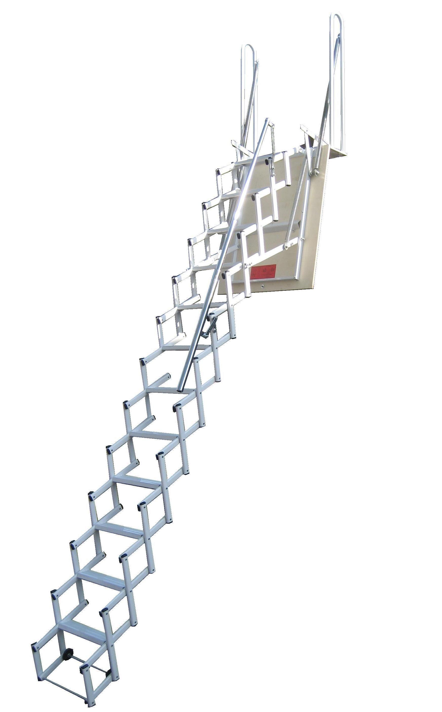 Escalera plegable tipo tijera elegant elegant wood en - Escalera plegable altillo ...