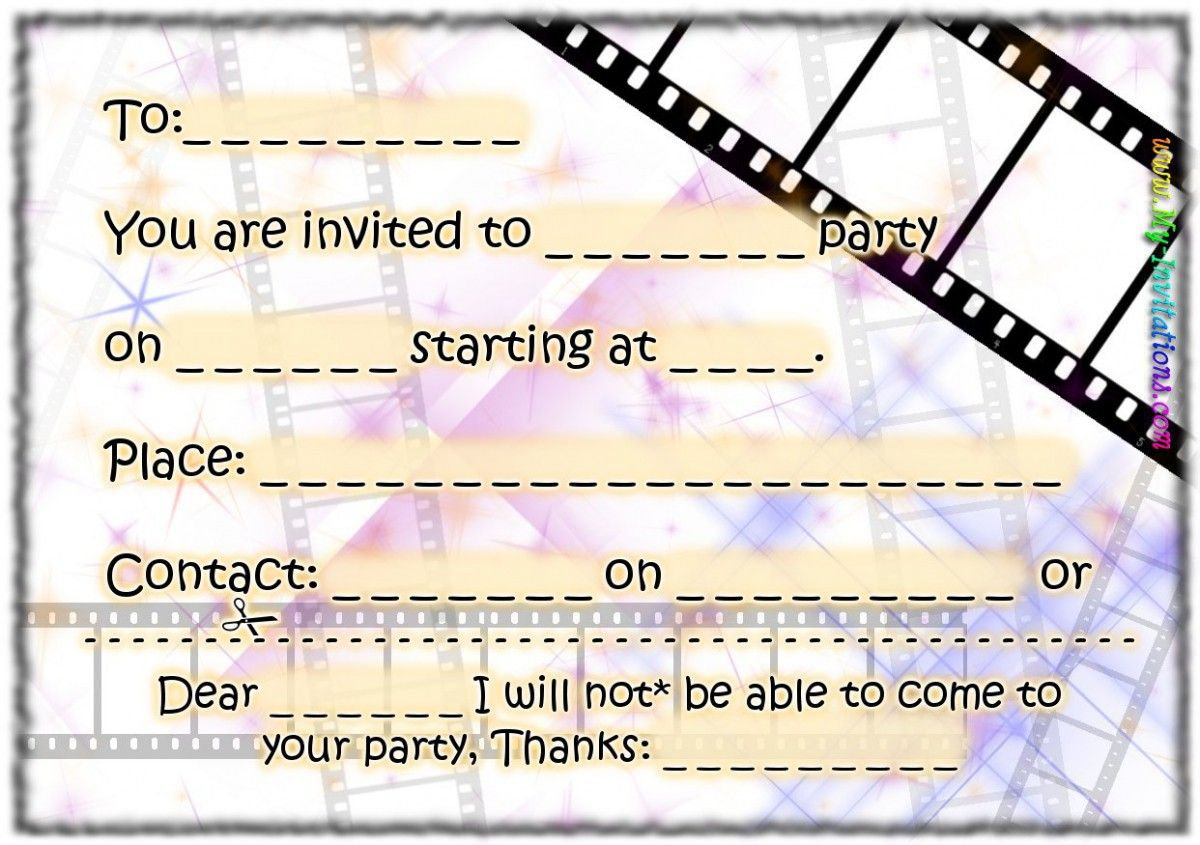 Printable Birthday Party Invitations Free 2015   Geburtstag ...