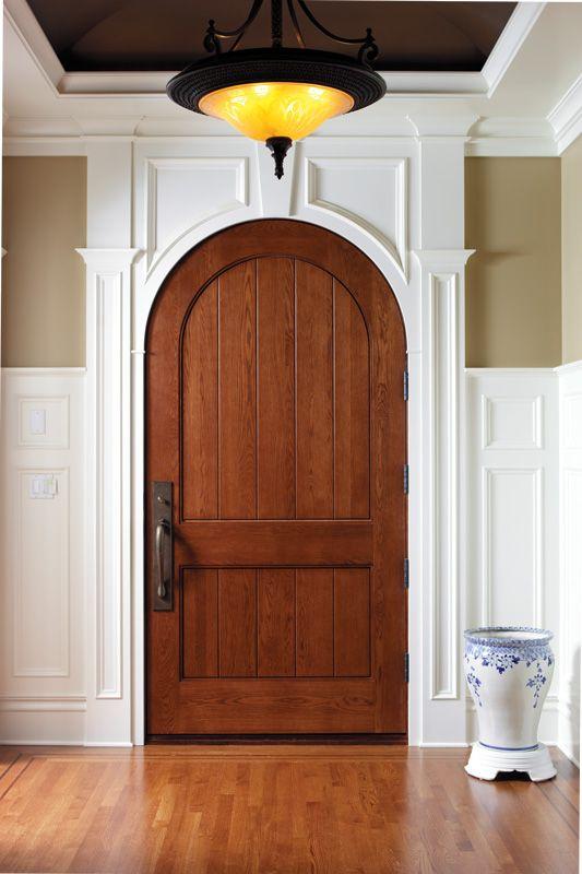 Custom Arch Door Shown In Oak Simpson Door Wooden Doors