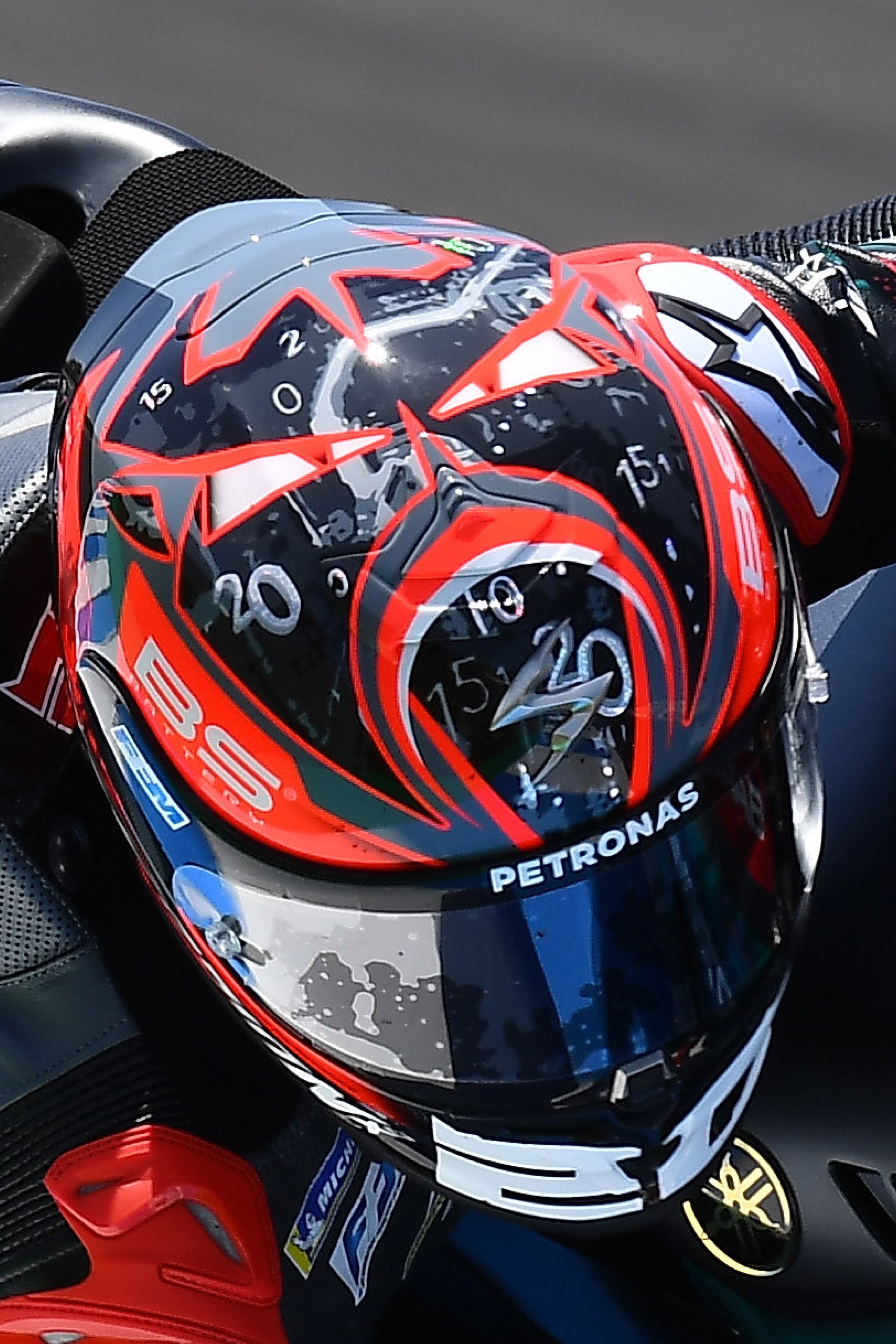 R1 Air Quartararo Replica Helmet Riding Gear Motorbike Art