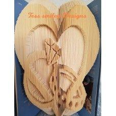Engagement Wedding Heart Ring Combi Book Folding Pattern