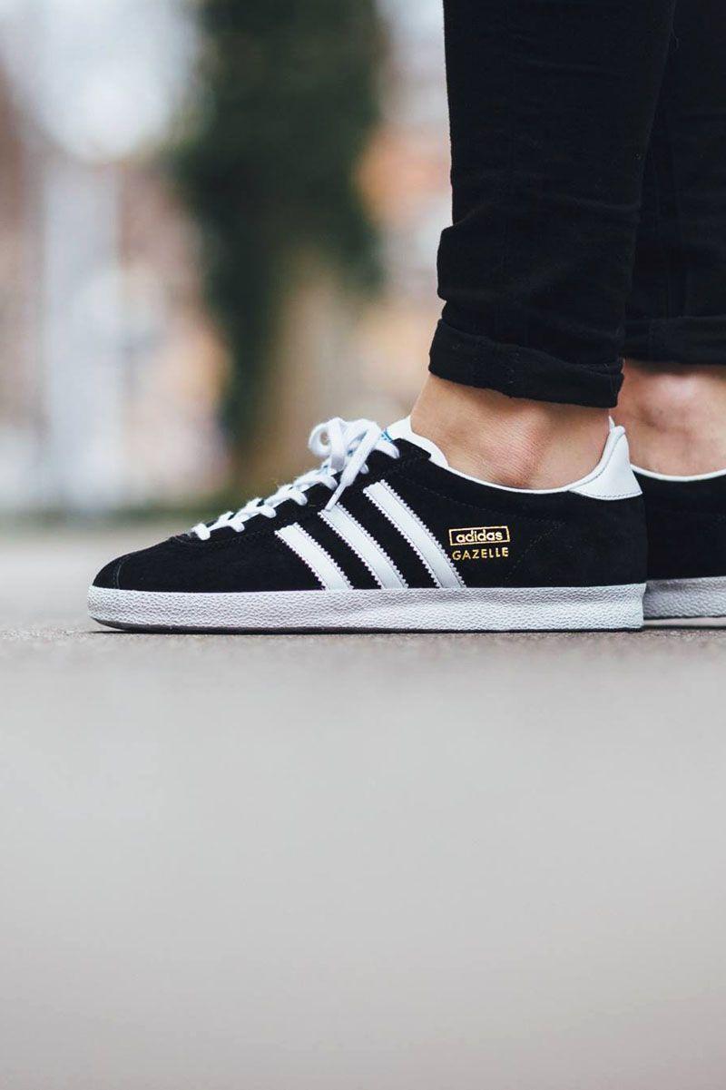 ADIDAS Gazelle OG Black Goldie | Adidas gazelle, Adidas, Adidas ...