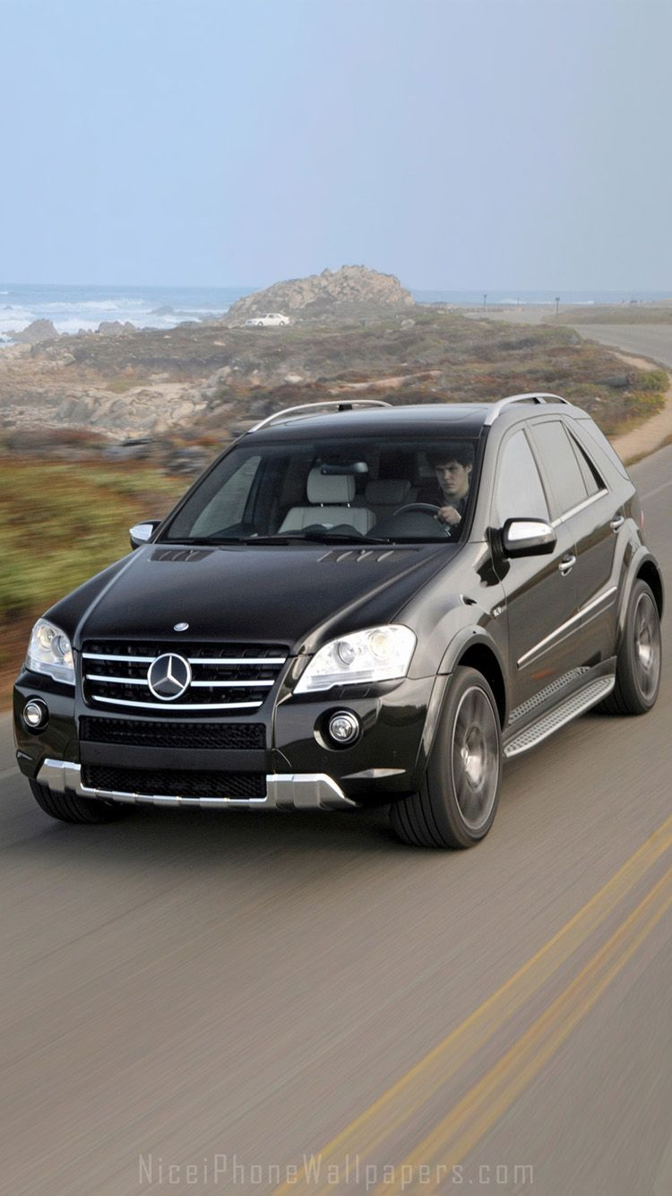 Mercedes-Benz ML-class ML63 AMG iPhone 6/6 plus wallpaper | coches | Coches, Autos, Clasicos