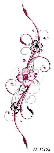 vektor ranke kirschbl ten flora blumen bl ten cherry blossom eigene tattoo vorlagen. Black Bedroom Furniture Sets. Home Design Ideas