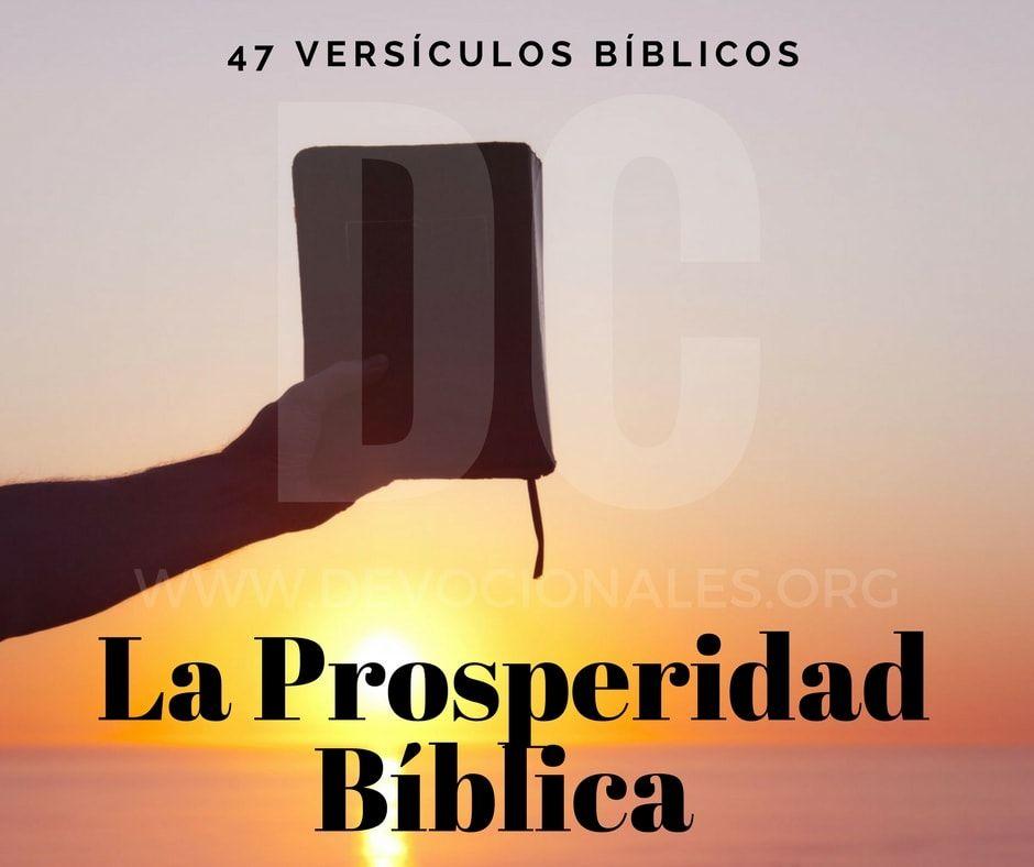 47 Versiculos Biblicos Acerca De La Prosperidad Biblica Con