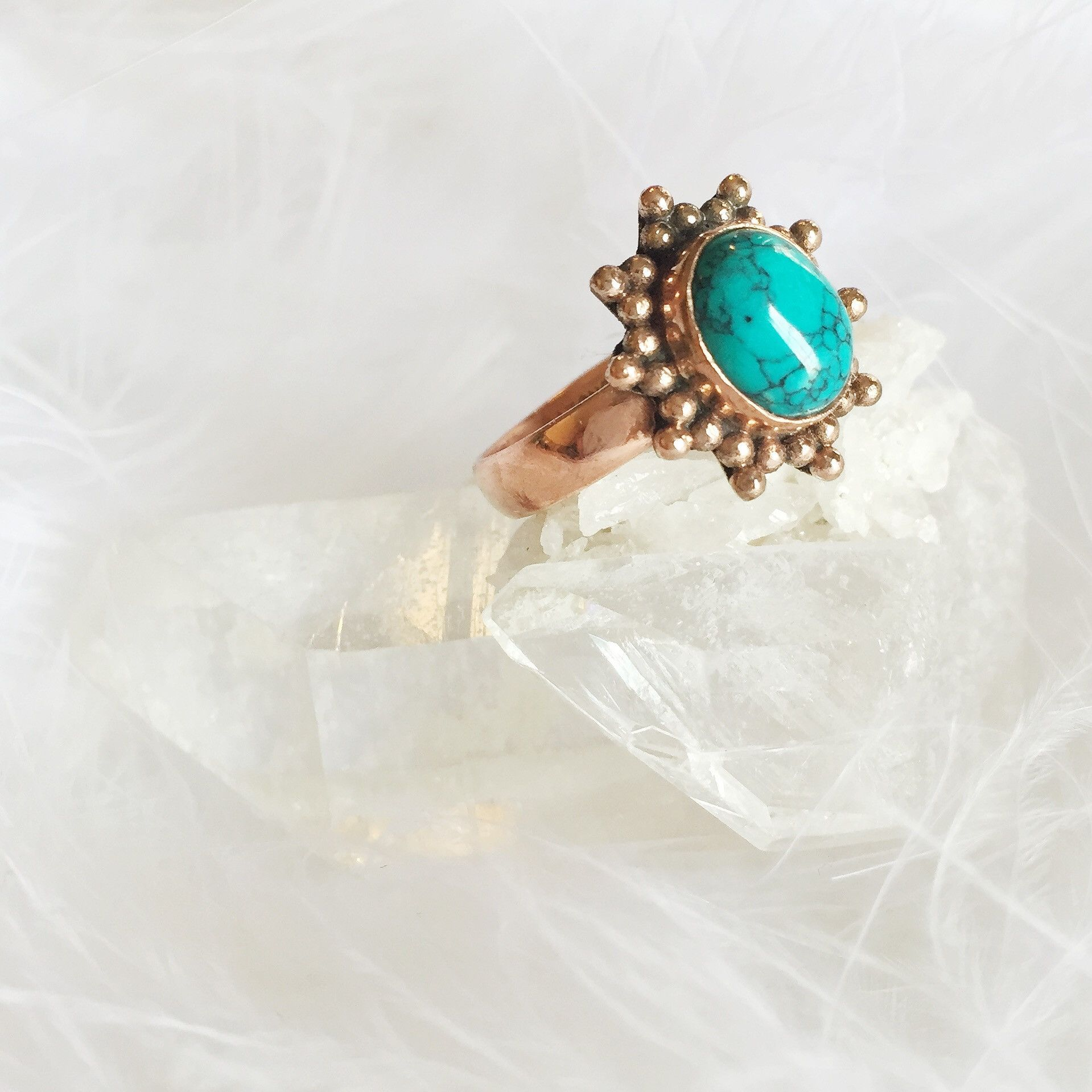 Senae - Copper Stone Ring – Druzy Dreams