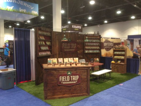 Food Exhibition Booth Design : Trade show rustic custom portable wall display for shop
