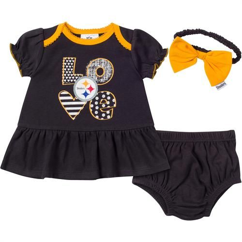Steelers Baby Clothes Magnificent Love My Steelers Baby Dress Outfit Pittsburgh Steelers Baby
