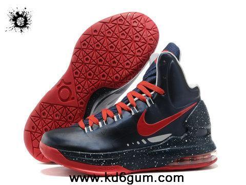 Nike Zoom KD V Dark Blue Red Fashion Shoes Shop