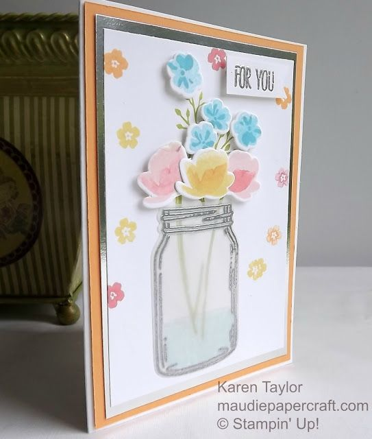 stampin' up jar of love card with vellum  love cards