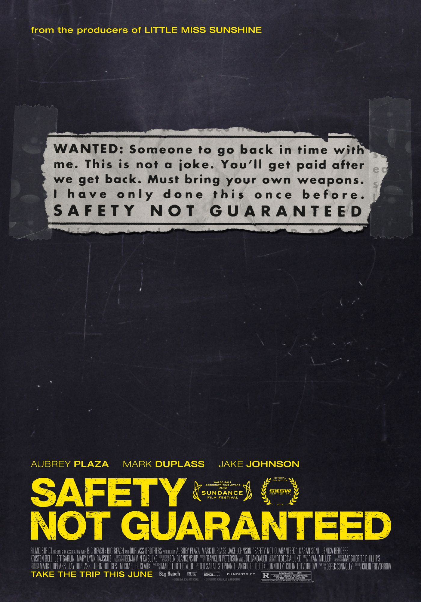 Safety Not Guaranteed (2012) 2012 movie, Indie films, Movies