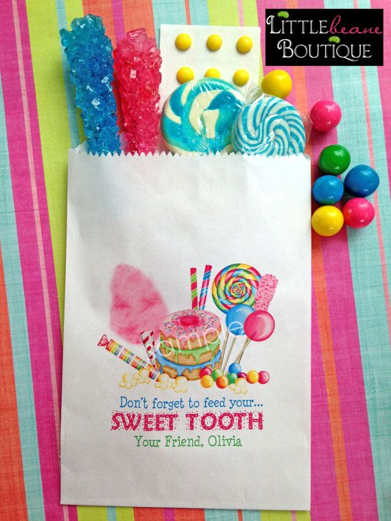 personalized candy bags sweet tooth collection candy favor bags