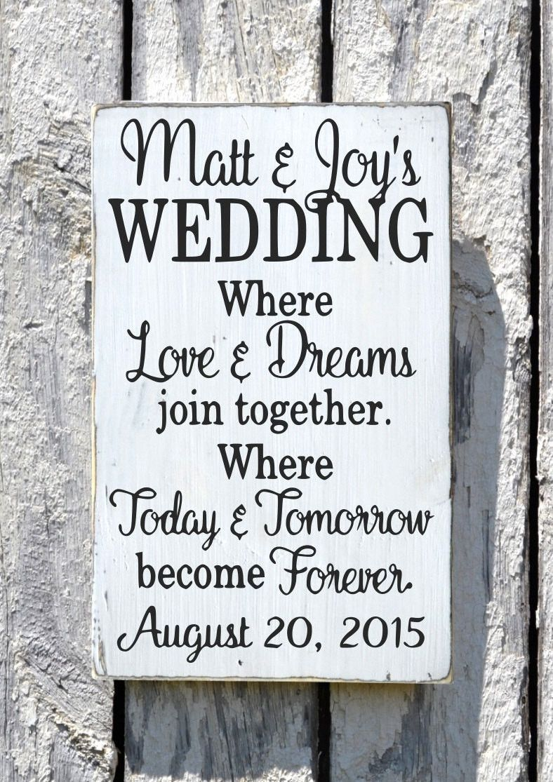 Rustic welcome wedding sign personalized wood plaque custom colors