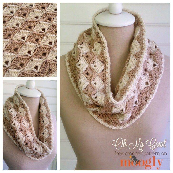 Oh My Cowl | Pinterest | Hechos, Crochet bufanda y Cuellos tejidos
