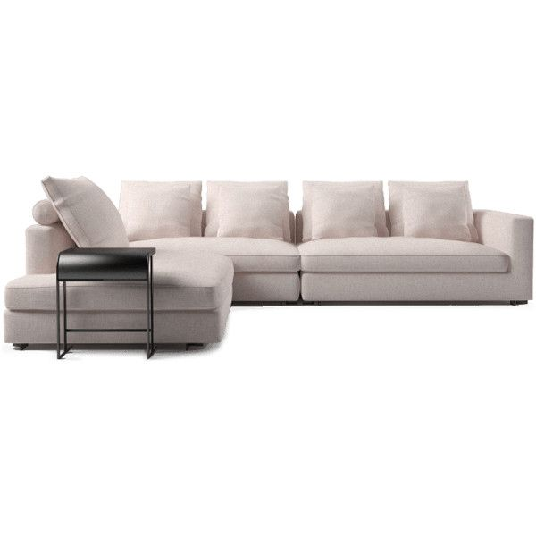 Large Narrow Corner Sofa Liked On Polyvore Featuring Home Furniture Sofas