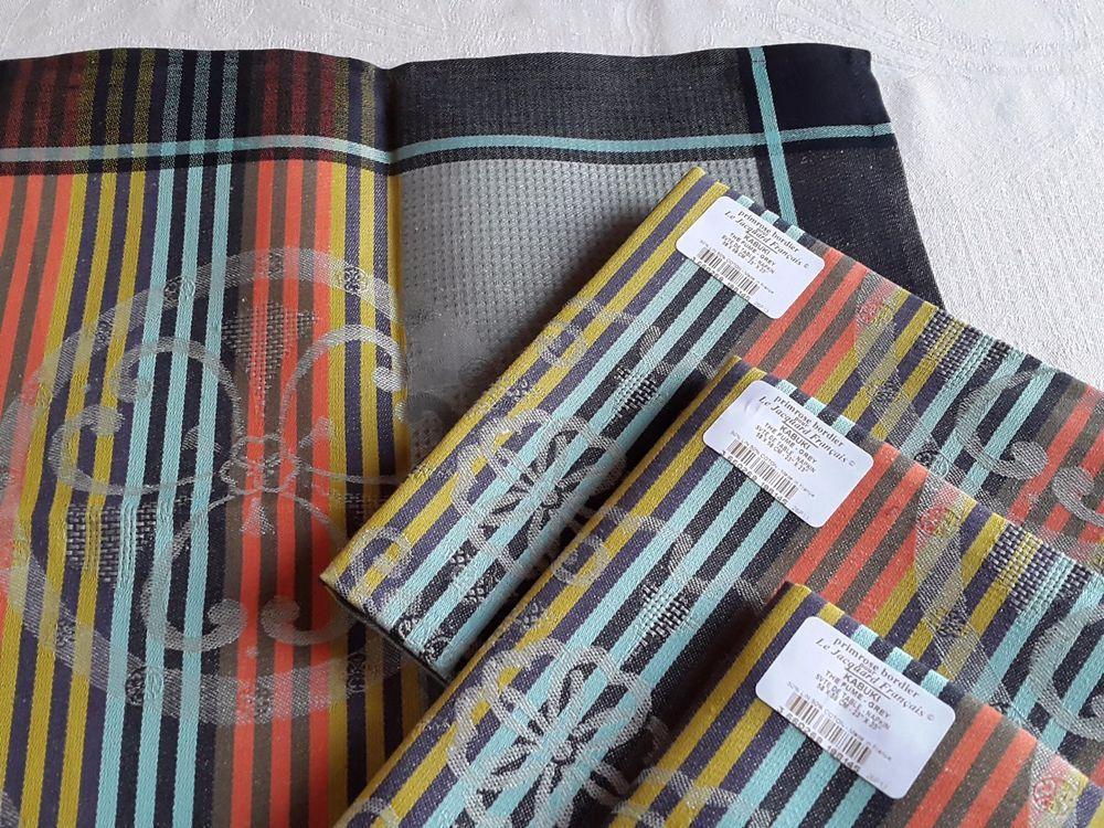 Le Jacquard Francais 4 Napkins Kabuki 22 X22 Grey 50 Cotton 50