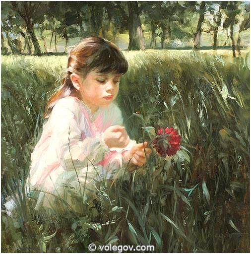 """Fly Ladybird"" by Vladimir Volegov, 2007, painting, 80x80 cm, oil on canvas"
