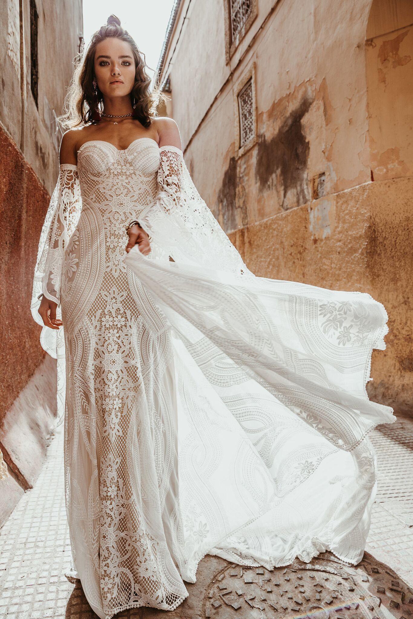Lightweight wedding dresses  New Rue De Seine Wedding Dresses  Trunk Shows  Wedding Stuff
