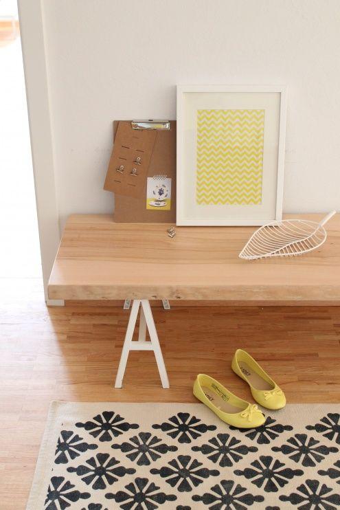 Frisch ☀, Tags Ikea + Deko + Bank + Weiß + Klemmbrett + Holz +