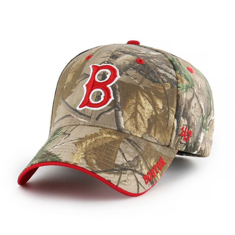 629dc9ef9b25d Adult  47 Brand Boston Red Sox Frost Realtree Camouflage Adjustable ...