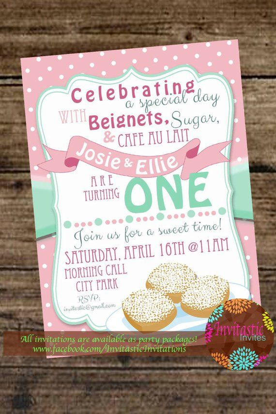 Beignets New Orleans Birthday Invitation