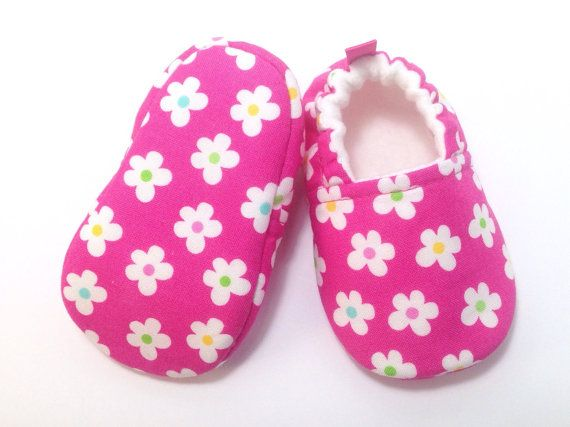 Pink Flower Baby Shoes Soft Sole Baby Shoes Baby Booties