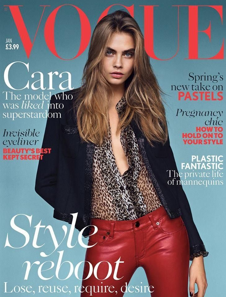 British Vogue - British Vogue January 2014 Cover