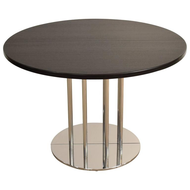 Extendable Round Bauhaus Dining Table By Thonet S1047 From A