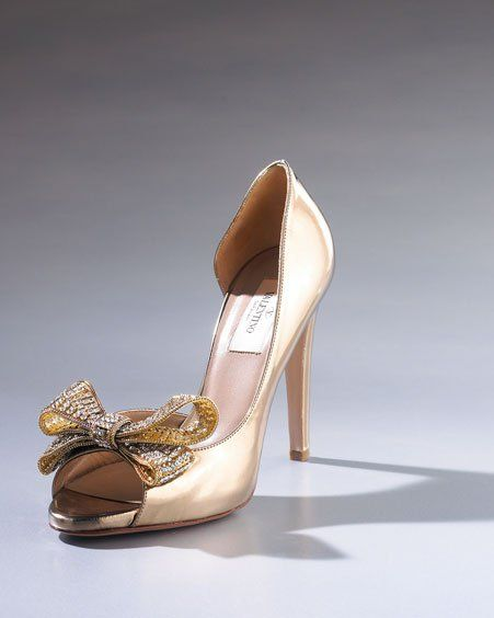 Crystal-Encrusted Bow d'Orsay by Valentino