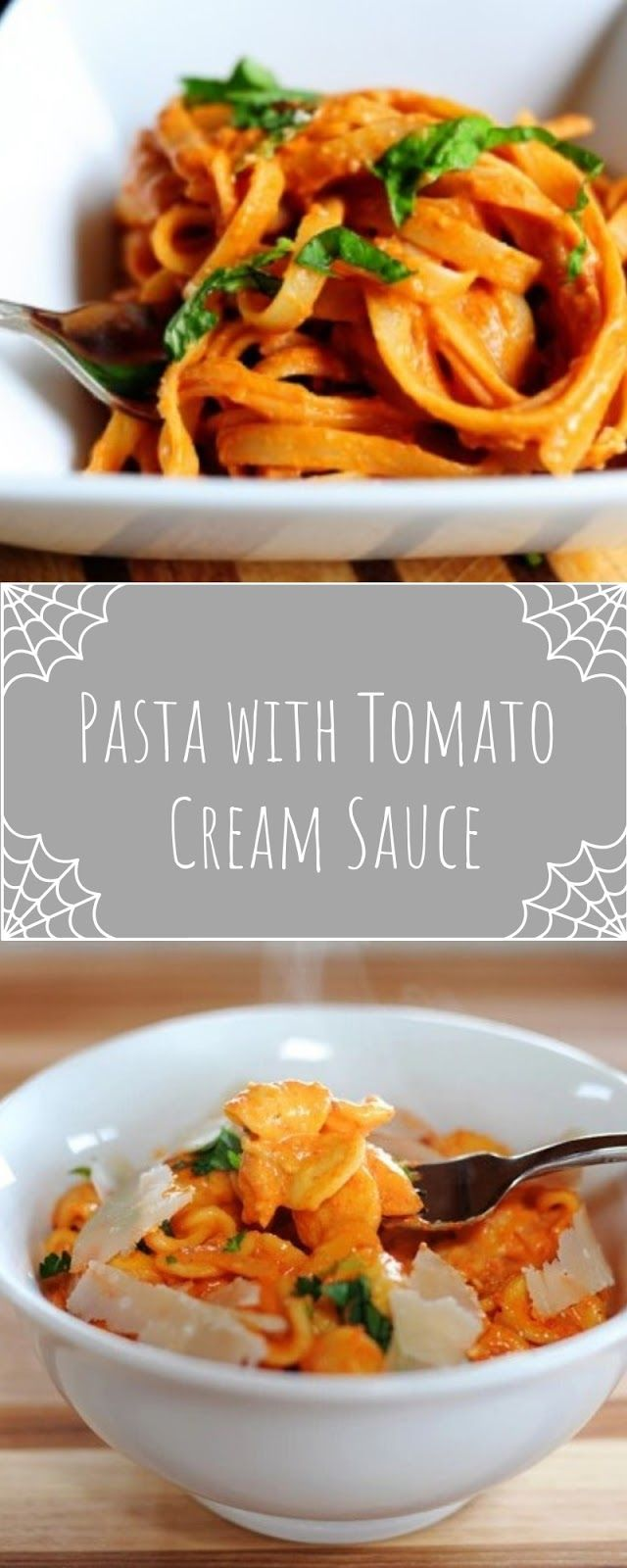 Pasta with Tomato Cream Sauce | Velia Kitchen #tomatocreamsauces