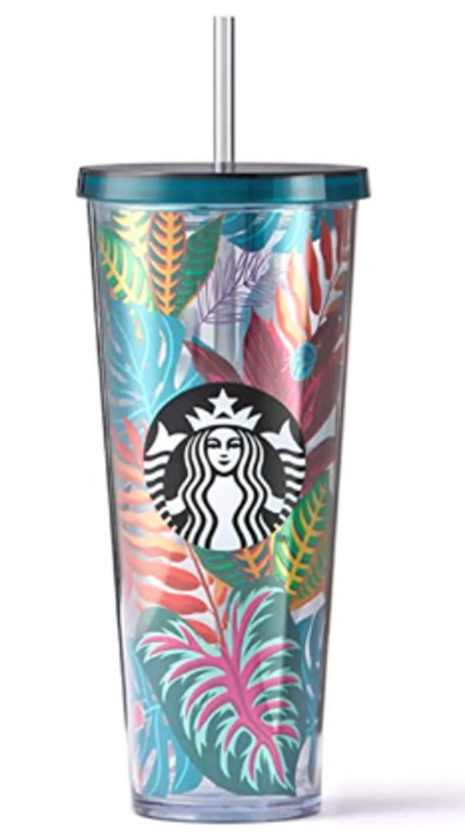 Starbucks Cold Cup With Colorful Leaves Secret Santa Gift Idea Starbucks Tumbler Cup Custom Starbucks Cup Starbucks Cups