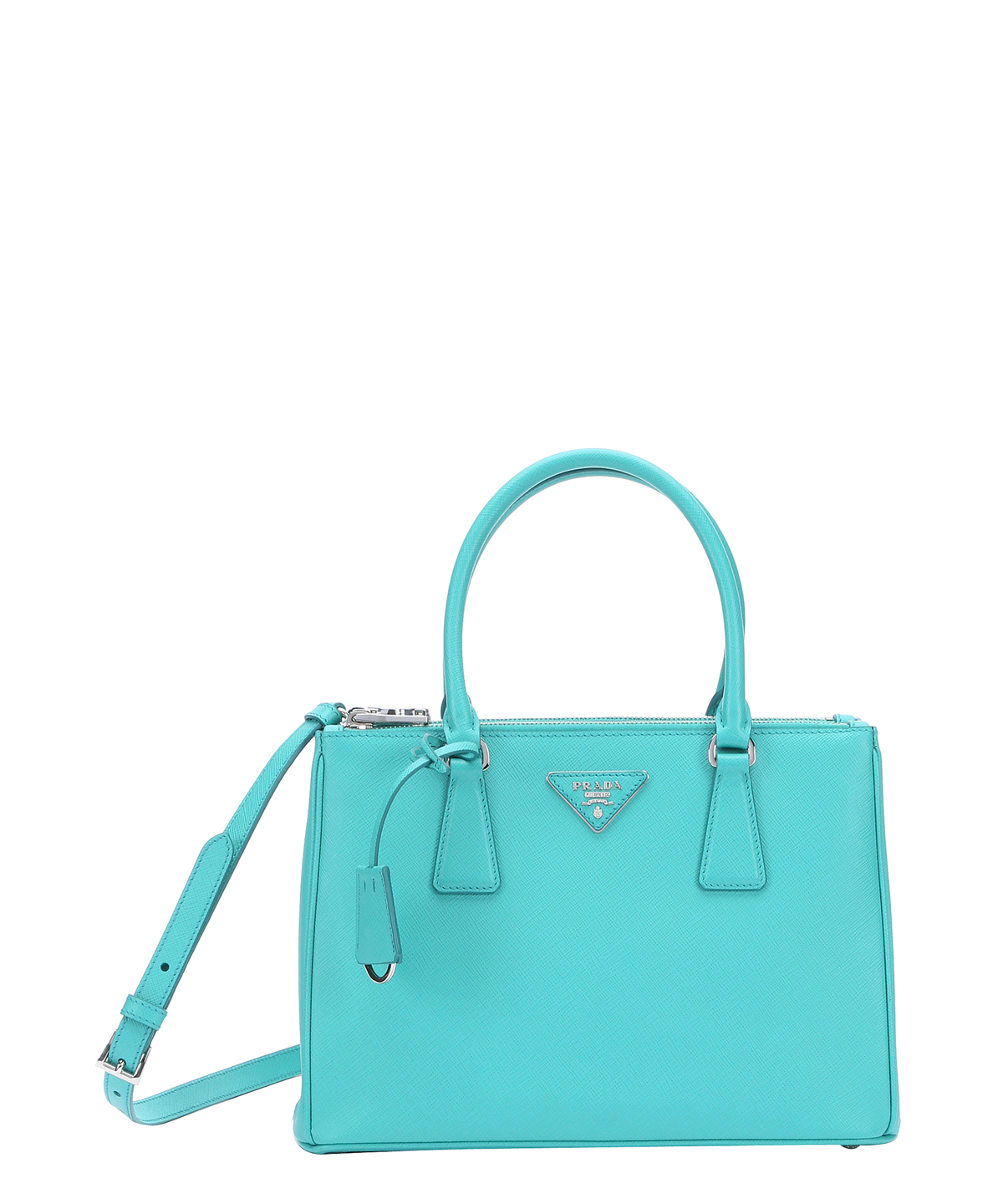 e32ddd8cf8a6 PRADA Turquoise Saffiano Leather Convertible Top Handle Bag'. #prada #bags  #shoulder bags #hand bags #leather #lining #