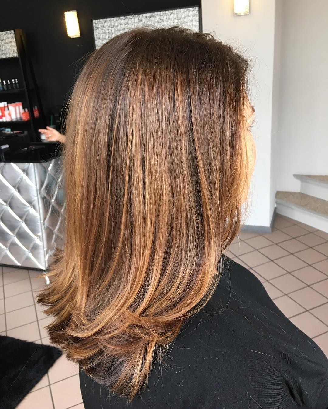 balayage golden blonde on light brown- hairholly fountain