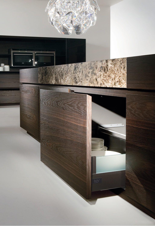 Cucina KU45 con marmo emperador > un progetto di Key Sbabo ...