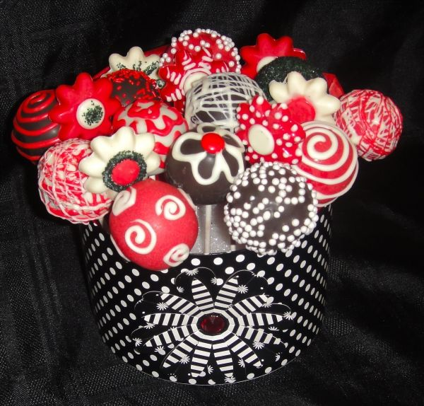 26/07 - cake pop #cakepopbouquet