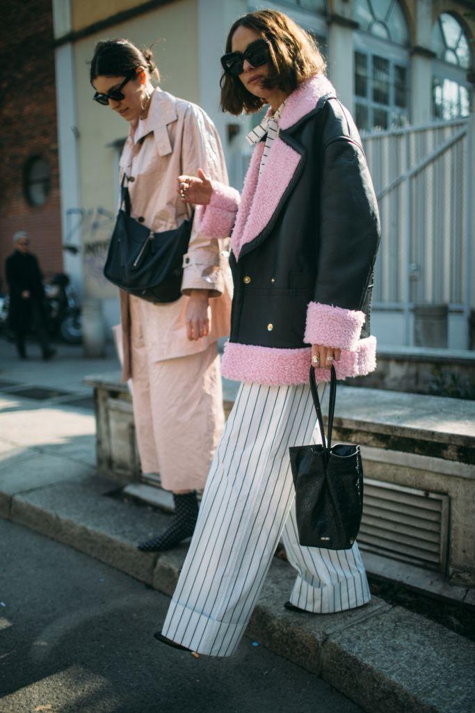 Street style at Milan Fashion Week Fall 2018 | DIY fashion ideas