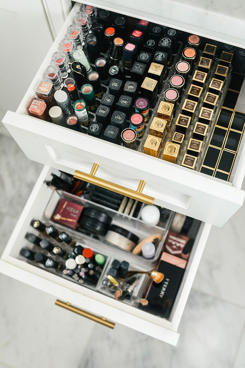 how I organize my makeup drawers The Style Scribe