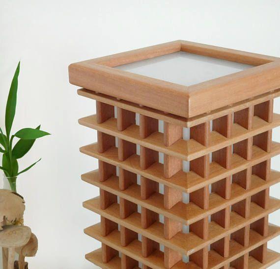 Unique wooden table lamp led lights bedside lamp home warming ...