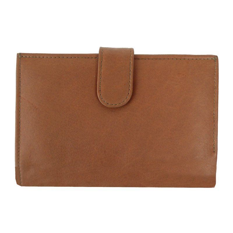 Piel Leather Ladies Wallet - Saddle, Women's - 9060