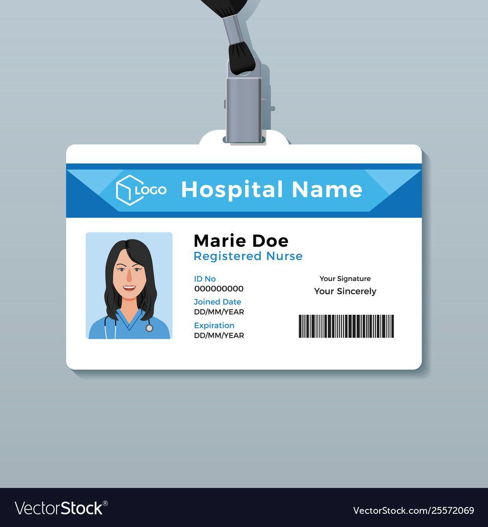The amazing Nurse Id Card Medical Identity Badge Template
